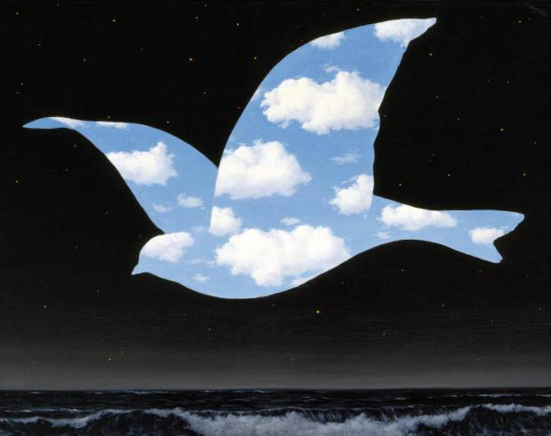 RENE MAGRITTE THE KISS 1951
