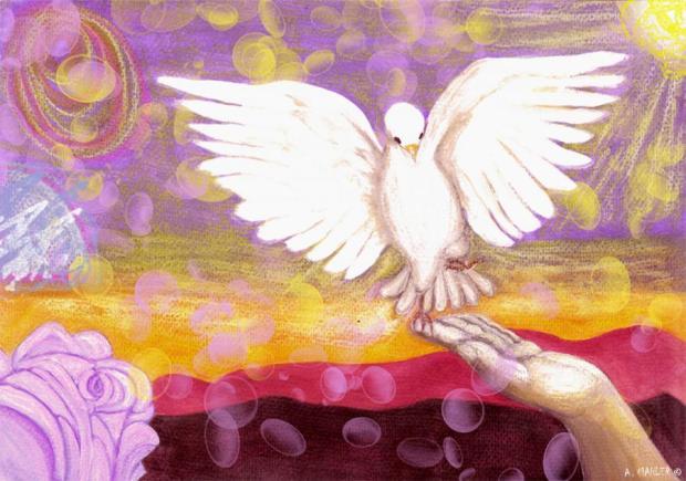 ATTİLA İLHAN YAŞAMAKTA DİRENMEK bird-peace-ayla-mahler-tablosu