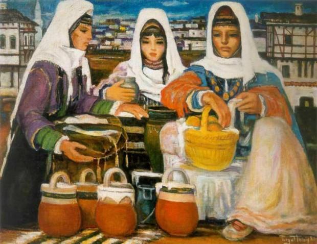 ZERRİN TAŞPINAR BULANIK SUDA YÜZMEK    Turgut Atalay (1918 – 2004) – Pazarcı Kızlar