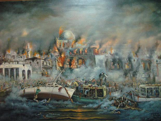 SELAHATTİN YOLGİDEN YANGIN 1922 İZMİR YANGINI the-smyrna-catastrophe-vasilis-bottas